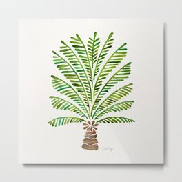 Palm Tree – Green Metal Print