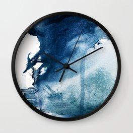 Pacific Grove: a pretty minimal abstract piece in blue by Alyssa Hamilton Art Wall Clock