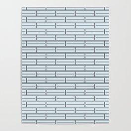 Light Blue Bricks on a Grey Background Poster