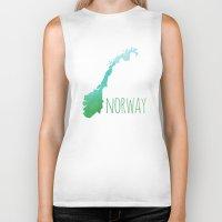 norway Biker Tanks featuring Norway by Stephanie Wittenburg