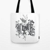 angels Tote Bags featuring Angels by LinnaDesign