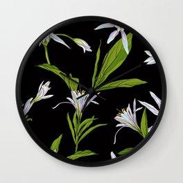 Flowers Lilies Wall Clock