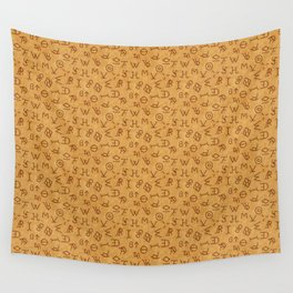 Cattle Brands on Leather Wall Tapestry