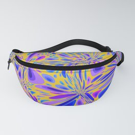 FREESIA bright summer colours in abstract floral dragonfly pattern Fanny Pack