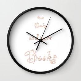 more Books Wall Clock