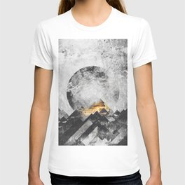 One mountain at a time - Black and white T-shirt