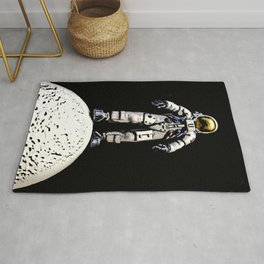on top of the moon Rug