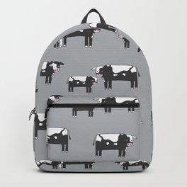 Cow farm minimal pattern animals nursery kids cattle design gifts grey Backpack
