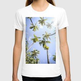 Tropical Paradise Beach Escape Island - Panama travel & palms landscape - Fine Art Print colorful 4 T-shirt