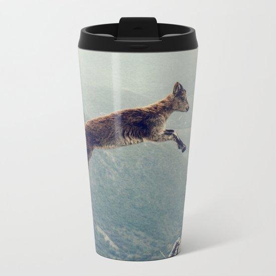Mountain Goat Metal Travel Mug