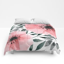 Big Watercolor Flowers Comforters