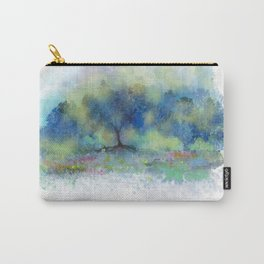 Blue Trees, Yellow Kisses Carry-All Pouch