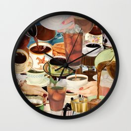 Wake Up and Smell the Coffee Wall Clock