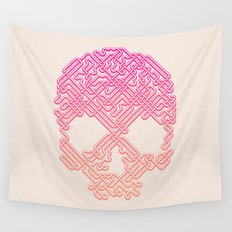 Labyrinthine Skull - Tropical Wall Tapestry