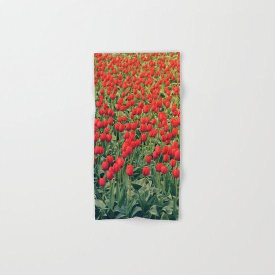 Tulips field #2 Hand & Bath Towel