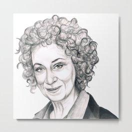Margaret Atwood Metal Print