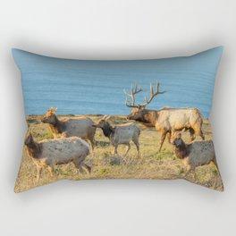 Tule Elk Herd Rectangular Pillow