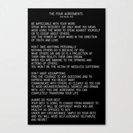 The Four Agreements #minimalist 2 Canvas Print