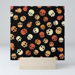 Skull Expression Pattern Mini Art Print