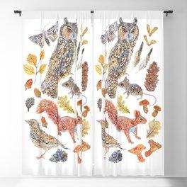 Autumn Wildlife Blackout Curtain