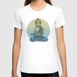 Buddha with dog3 T-shirt