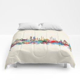 Istanbul skyline Comforters