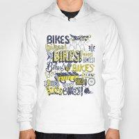bikes Hoodies featuring Bikes! by Matthew Fleming