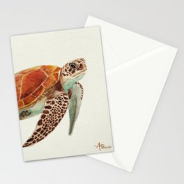 Turtle Watercolor Stationery Cards