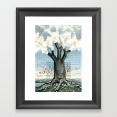 Wood fire Framed Art Print