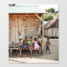 Kids in Madagascar Canvas Print