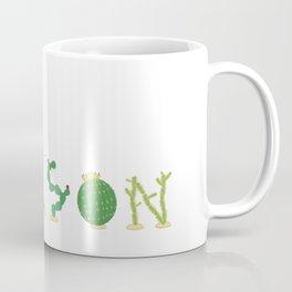 Tucson Cacti Letters Coffee Mug