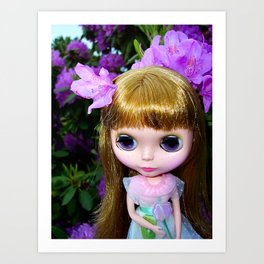 Floral Blythe Art Print