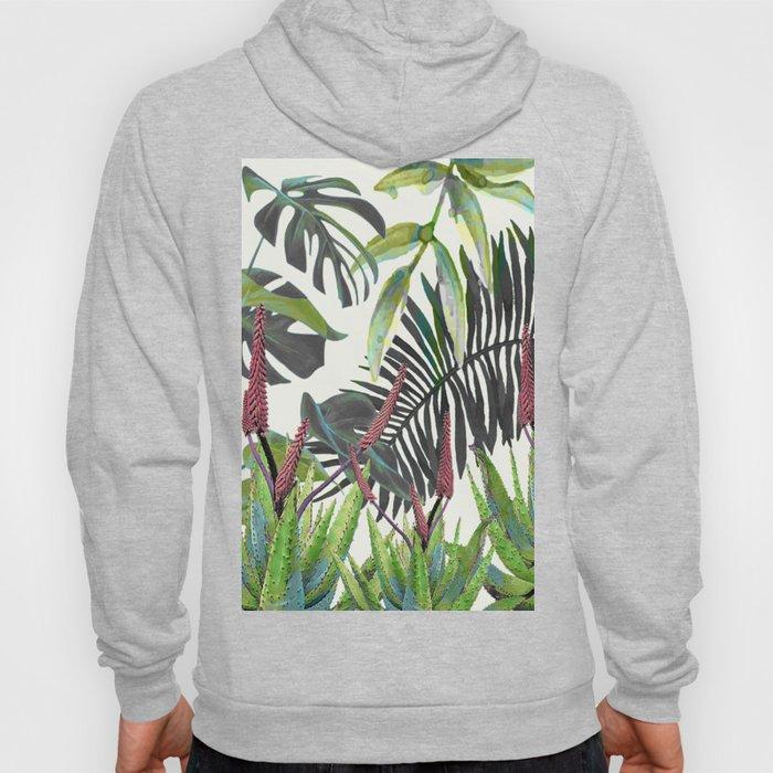 Watercolor Plants II Hoody