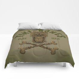 Tiki Bones Comforters