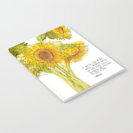 Light of the World - Sunflowers Notebook