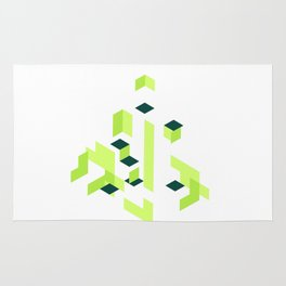Green arrow Rug