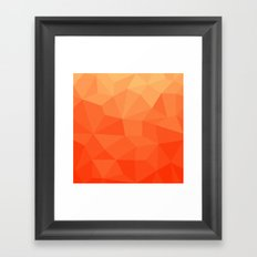 Abstract Geometric Gradient Pattern between Pure Red and very light Orange Framed Art Print