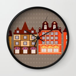 Vintage town Wall Clock