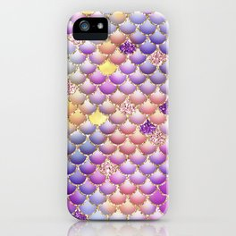 Colorful Mermaid Scales iPhone Case