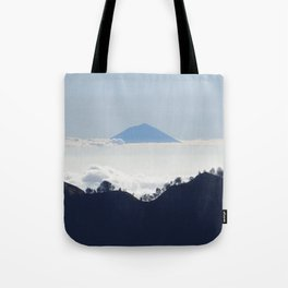 Island in the clouds Tote Bag
