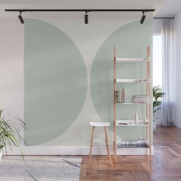 Curvature Minimalism - Sage Wall Mural