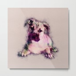 American Staffordshire Terrier - Amstaff Puppy Metal Print
