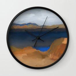 Lake with a Lagoon Wall Clock
