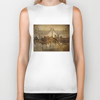 paris map Biker Tanks featuring Paris  by Bekim ART