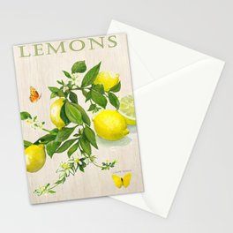 Lemons and their Blossoms Stationery Cards
