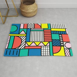 Memphis Color Block Rug