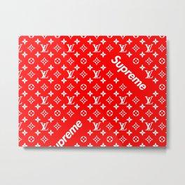 supreme LV wallpaper Metal Print