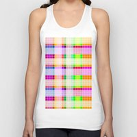 bathroom Tank Tops featuring Bathroom Tile Rainbow by Jessica Slater Design & Illustration