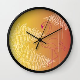Funky flamingo Wall Clock
