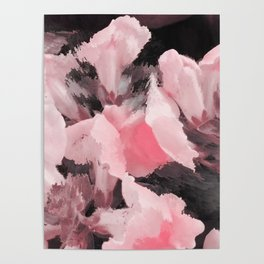 Light Pink Snapdragons Abstract Flowers Poster